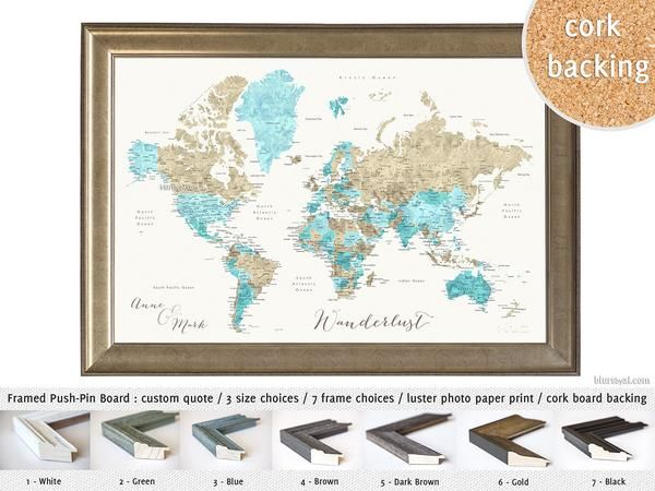Holiday deal 20 off all personalized framed push pin maps pin holiday deal 20 off all personalized framed push pin maps gumiabroncs Image collections