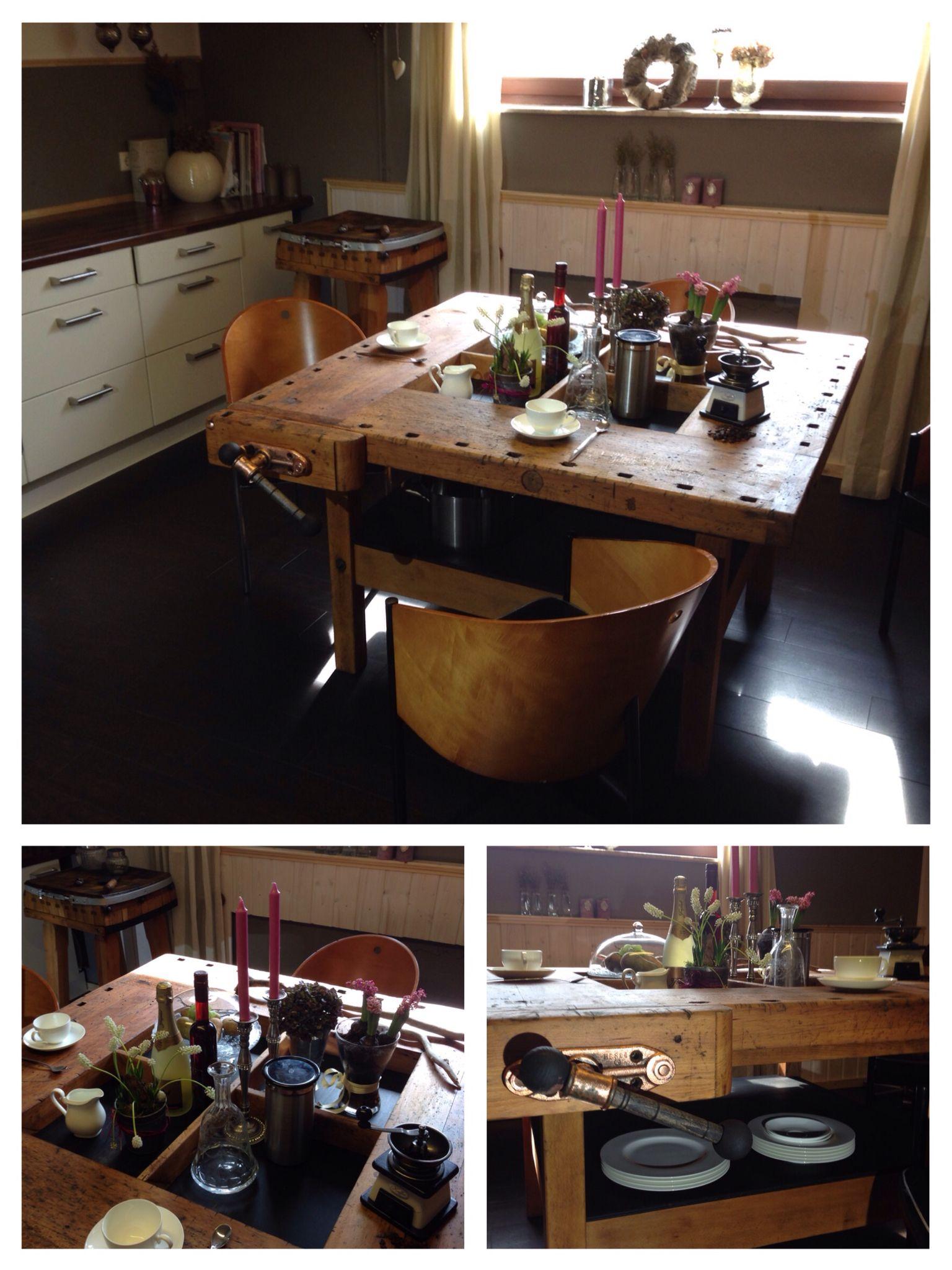 Einzigartig Küche Vintage Beste Wahl Hobelbank Werkbank Workbench Tisch Küche Trial Loft