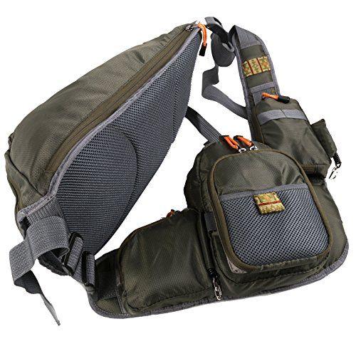 Maxcatch Fly Fishing Sling Pack Adjustable Backpack Fishing Sling Bag Maxcatch Http Www Amazon Ca Dp B017vvii68 Ref Cm Sw R Pi Dp Jp Sling Bag Bags Backpacks