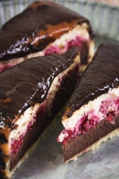 cheesecake with raspberries  caramel   chocolate  #fitness #tips #fitness #workout #at #home #workou...