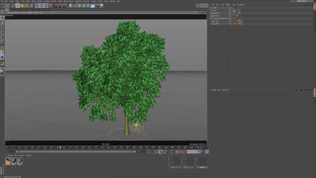A quick way to make a dynamic tree blowing in a wind out of a