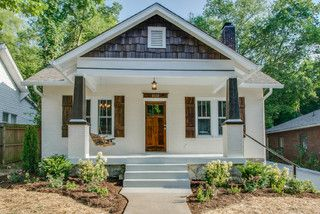 Love The Black And White Bungalow Craftsman Bungalow Exterior