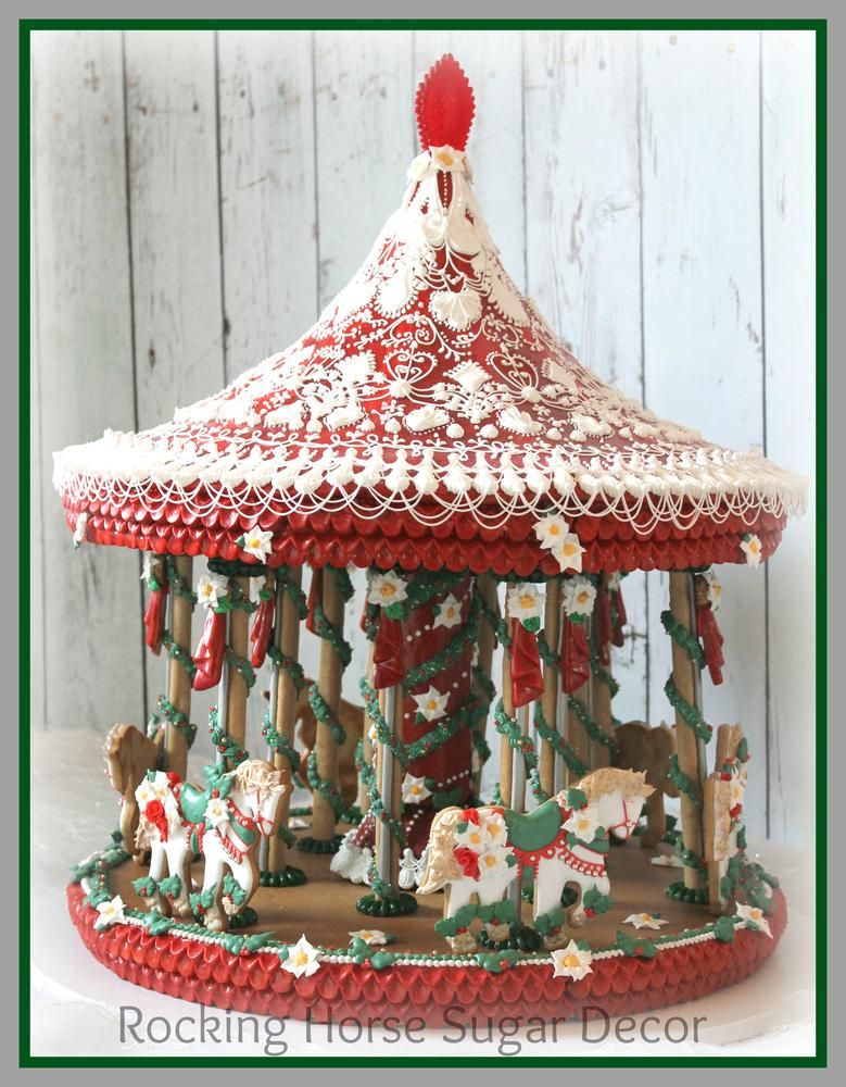 Christmas Carousel by Rocking Horse Sugar Cookies Cookie - christmas carousel decoration
