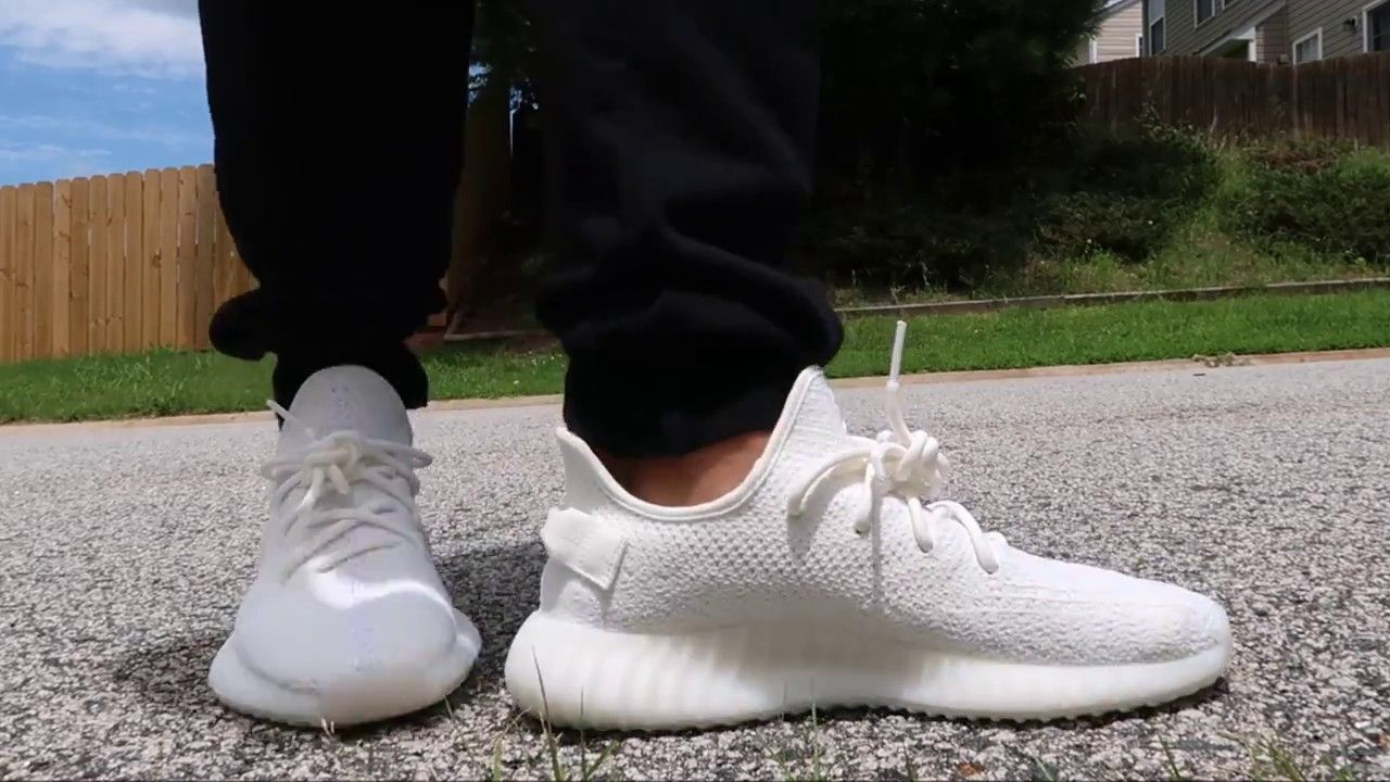072a75a899e9 How I Lace My adidas Yeezy 350 Boost V2 Cream Sneaker + On Feet Review