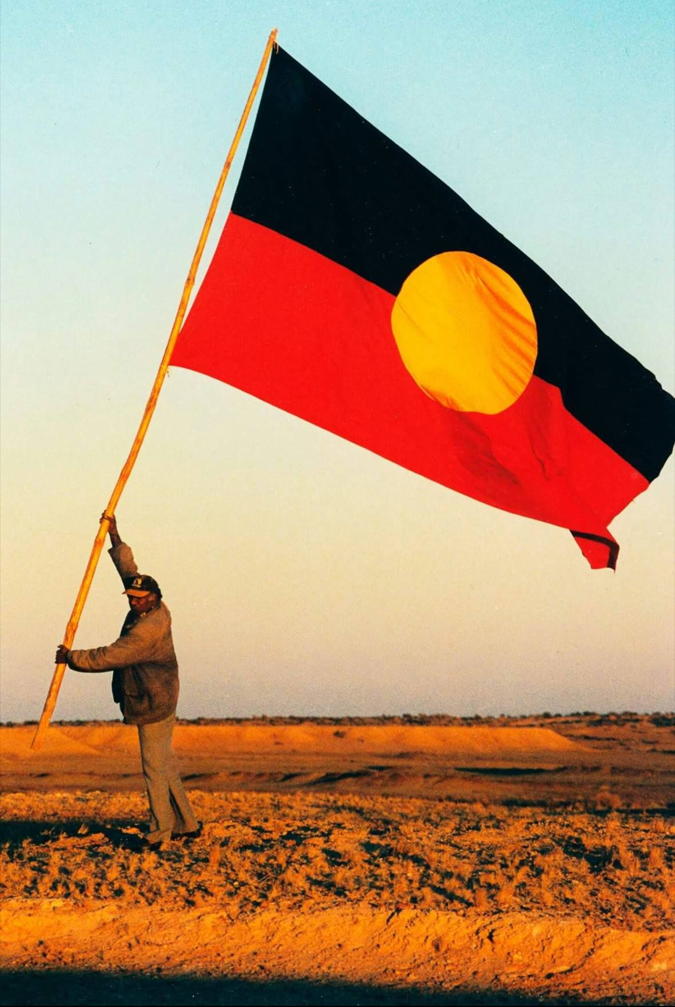The Australian Aboriginal Flag In
