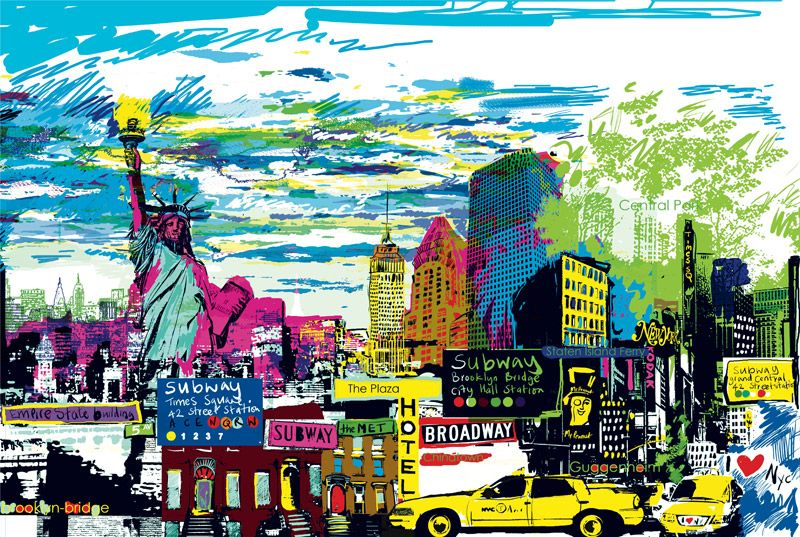 New York Skyline by Kitty McCall