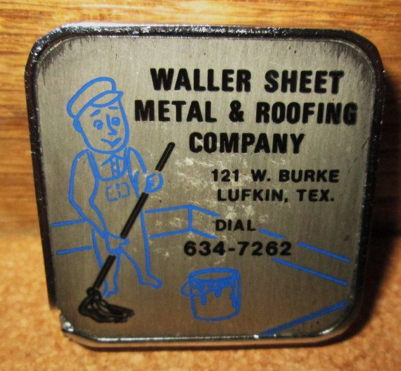 Vintage Tape Measure Advertising Tape Measure 1960 S Double Sided Steel Tape Measure From Lufkin Tex Vintage Tools Vintage Tools Lufkin Sheet Metal Roofing