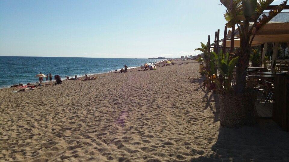 Platja de Canet de Mar en Canet de Mar, Cataluña