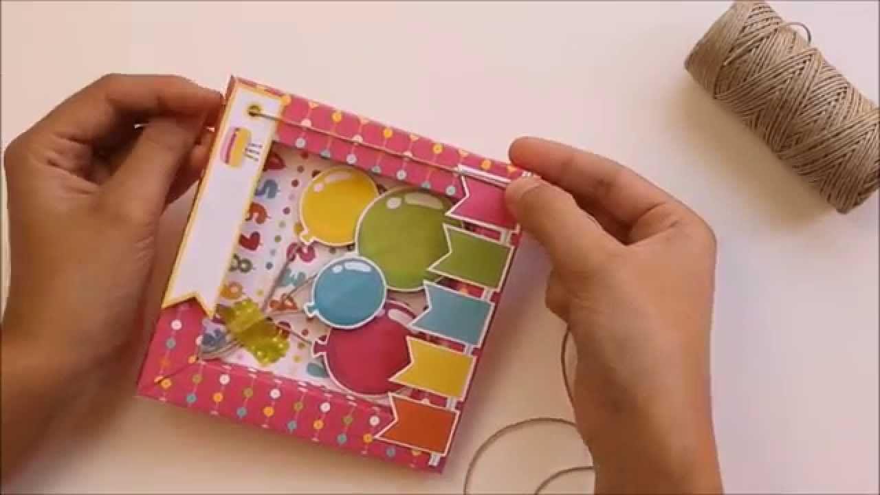 Cómo hacer una tarjeta de cumpleaños 3D en forma de marco. #paper ...
