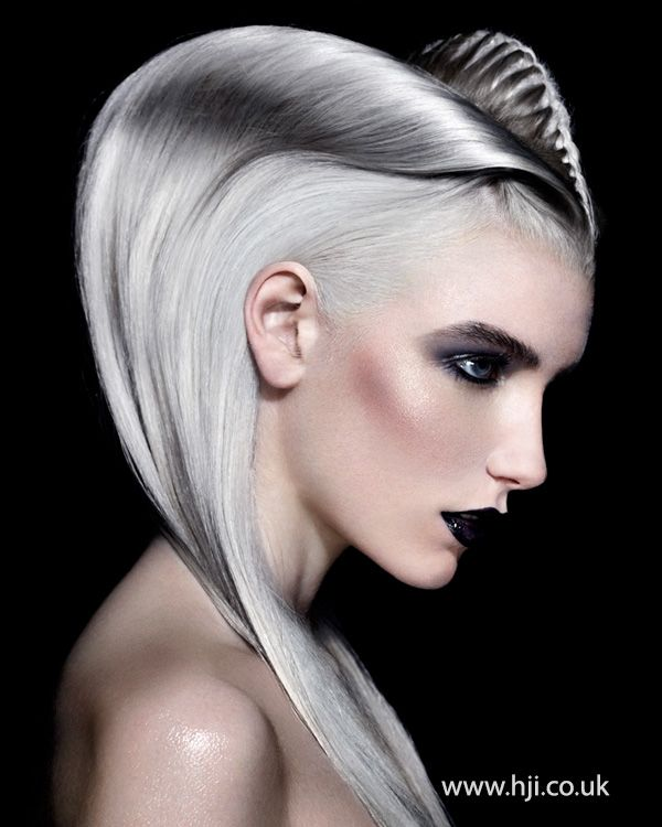 2014 smooth grey futuristic - hairstyle