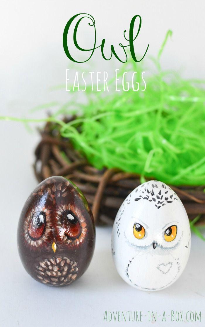Owl Easter Eggs Diy Easter Decor Easter Egg Ideas Crafts