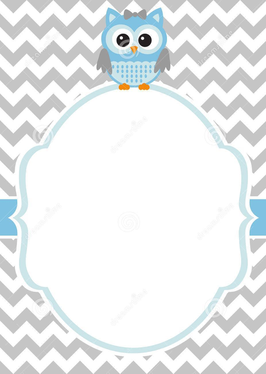 Download Now Free Printable Baby Owl Baby Shower Invitation Template
