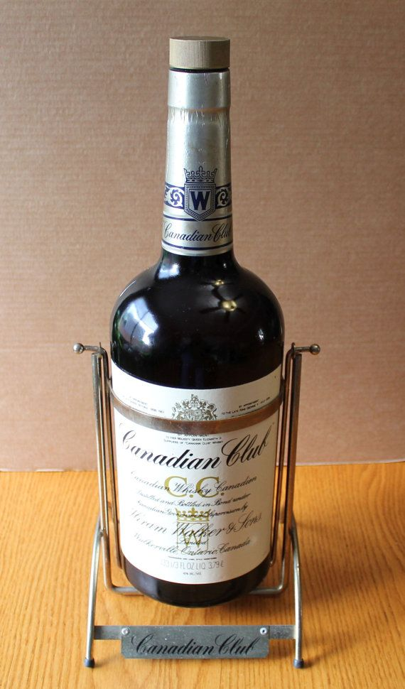 de859451aefb0 Canadian Club Bottle with Swinging Pour Stand- CC Texas Mickey with ...