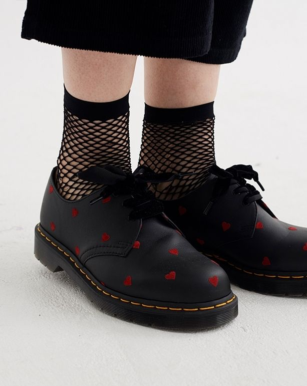 Dr. Martens x Lazy Oaf 1461 Red Heart Shoe - Everything - Categories -  Womens