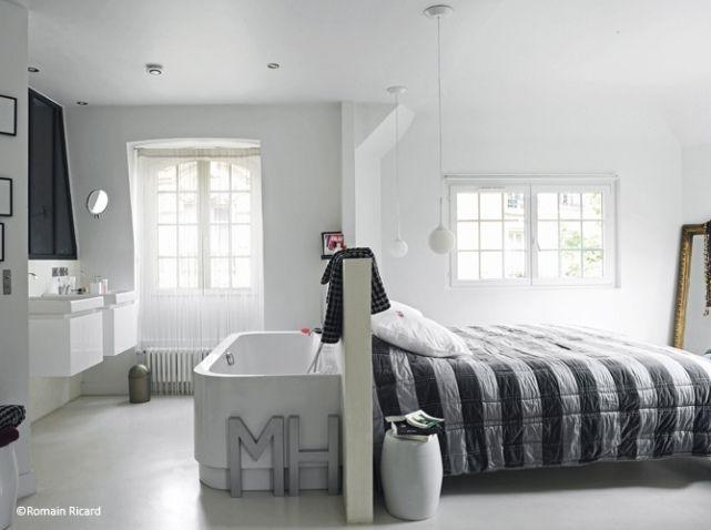 Idees deco chambre salle de bains Bedrooms Pinterest Bedrooms