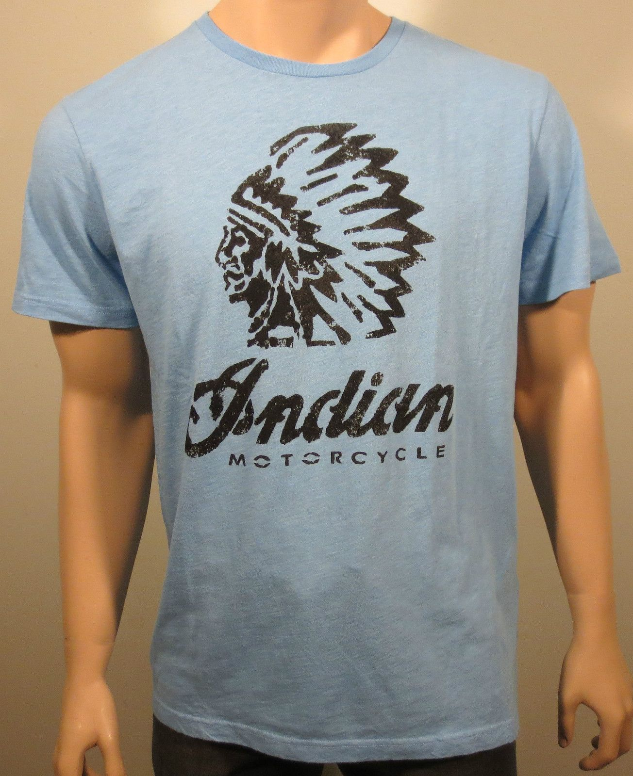 T shirt white brand - New Lucky Brand Indian Motorcycle Distressed Graphic Short Sleeve T Shirt Large