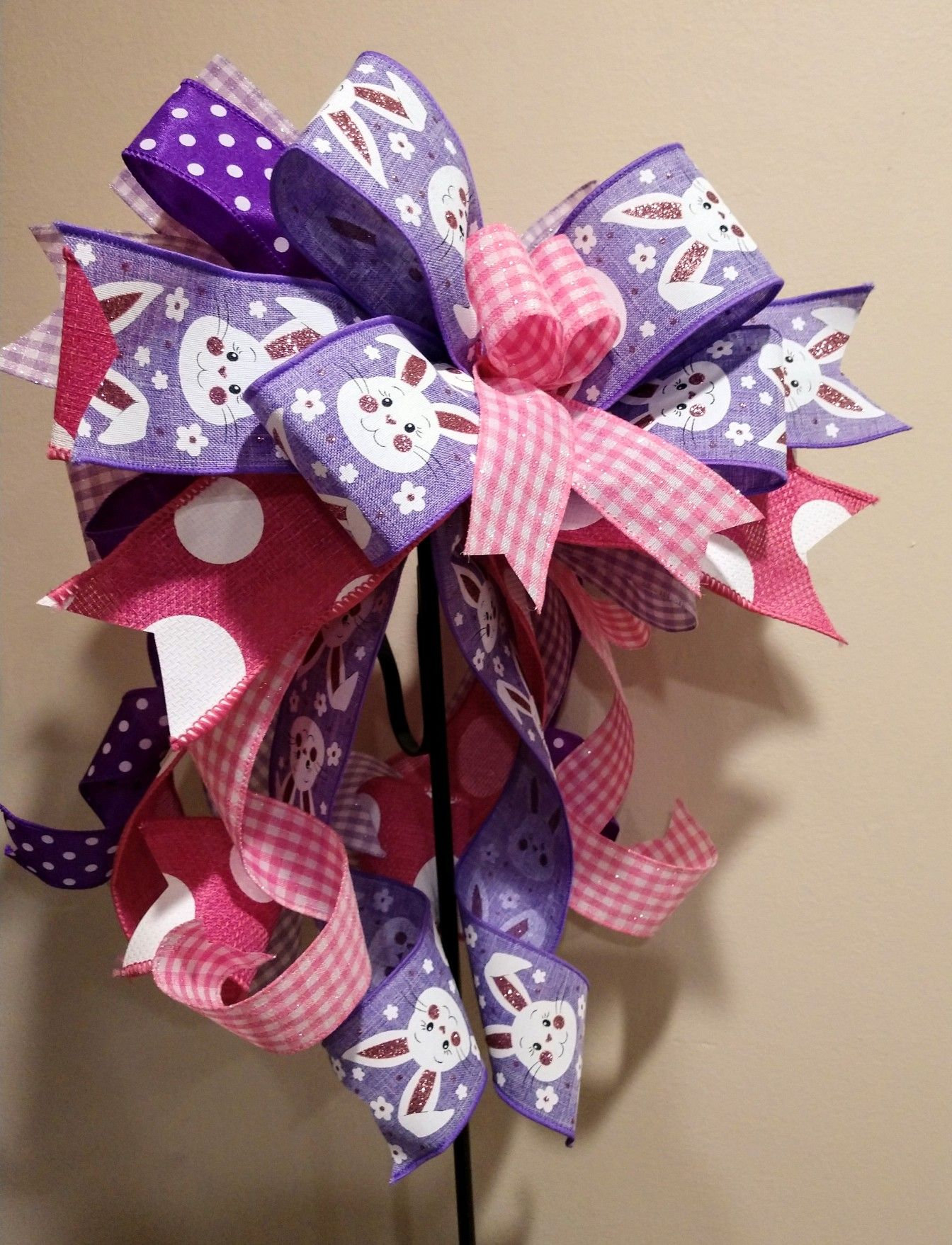 Easter Lavender Bow Easter Basket Bow Candlestick Bow Spring Lantern Bow Spring Lantern Toppers