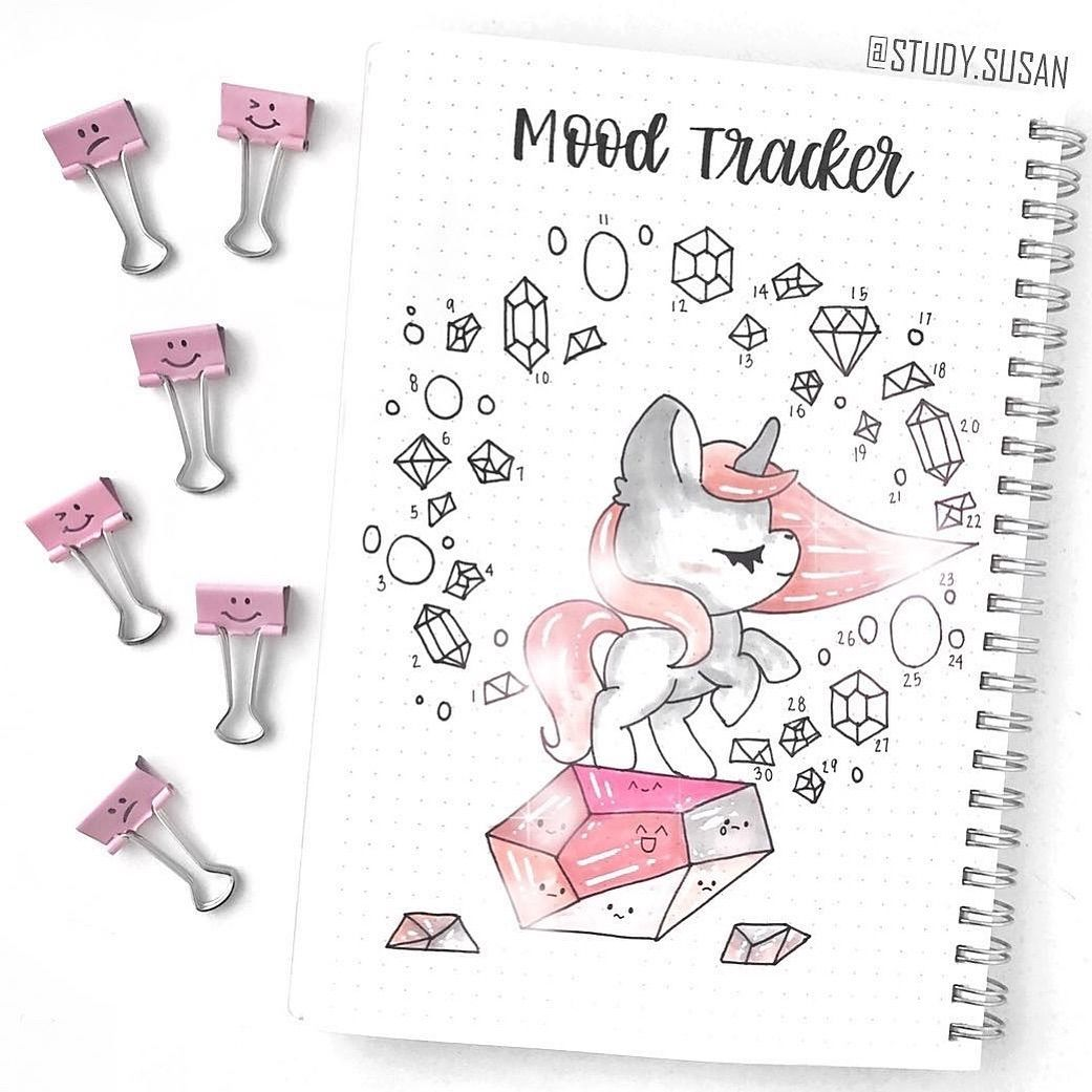 Notebooktherapy Com Bujo On Instagram Omg This Unicorn Mood