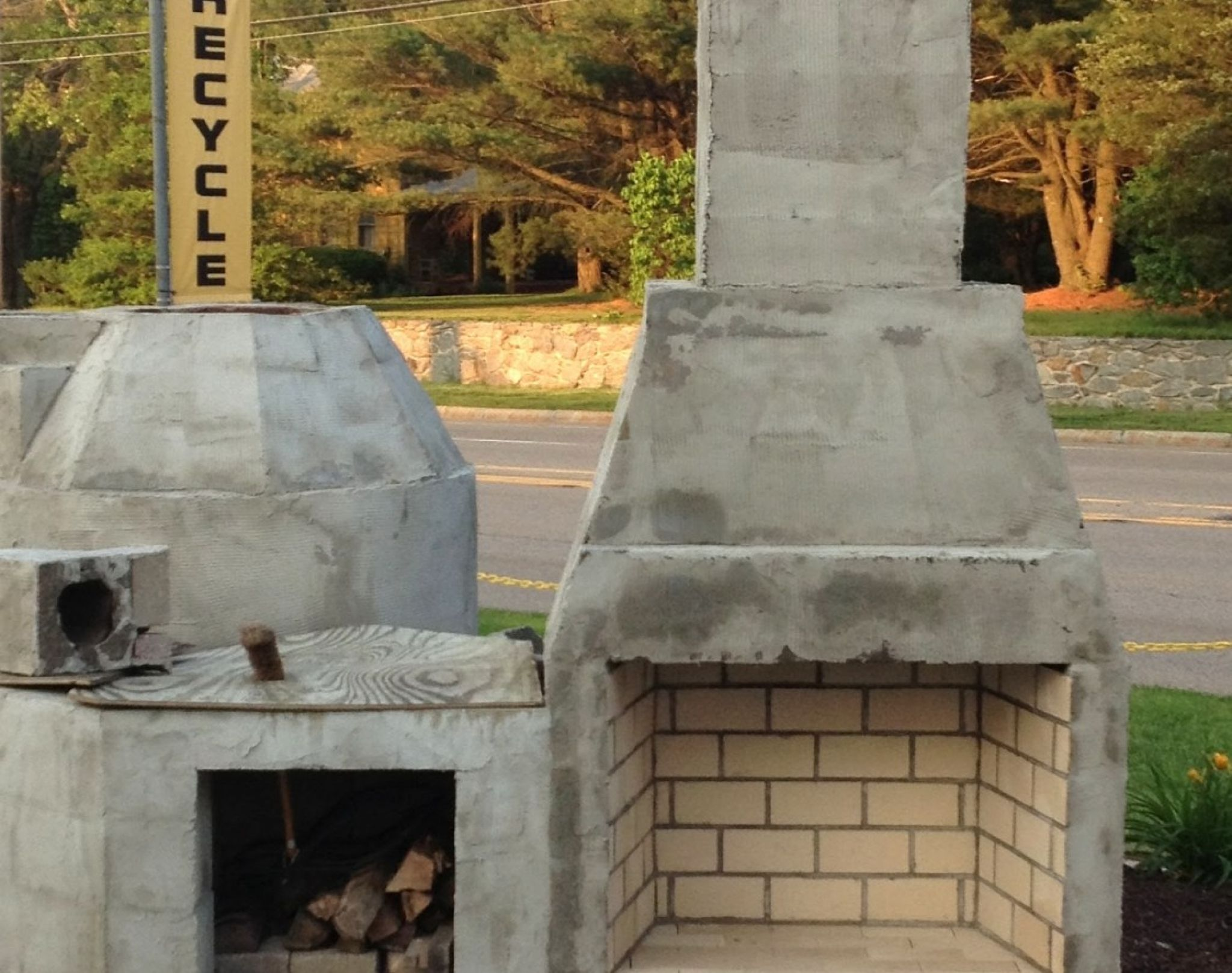building outdoor fireplace with cinder blocks - best paint ... on Building Outdoor Fireplace With Cinder Block id=50121
