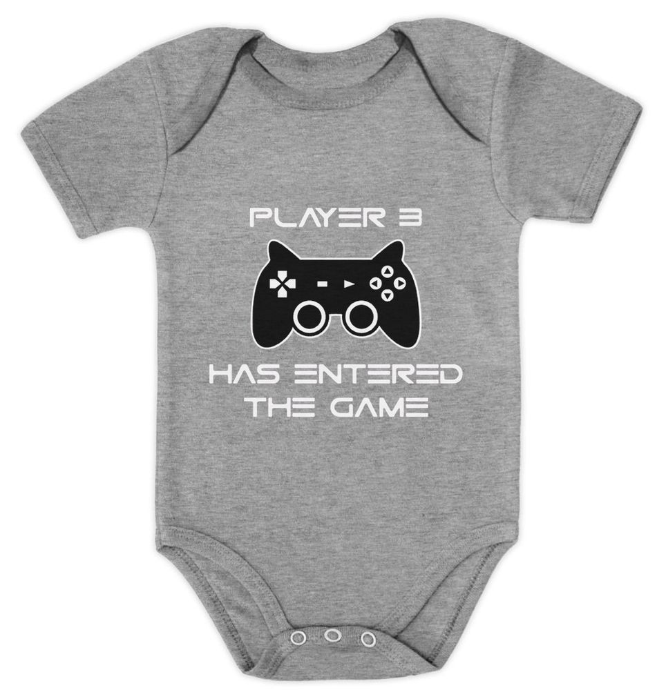 Gamer Baby Shirt Gamer Baby Tee Player 3 Shirt Player 3 Has Entered The Game Player 3 Bodysuit Baby Shower Bodysuit Baby Shower Gift