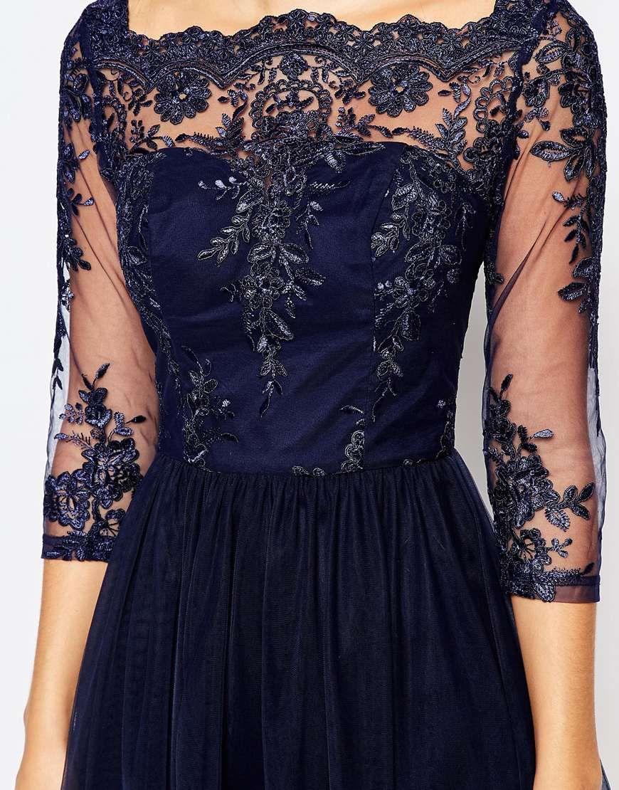 e2a86b9d Chi Chi London BRANDI sukienka wieczorowa midi koronkowa | sukienka ...