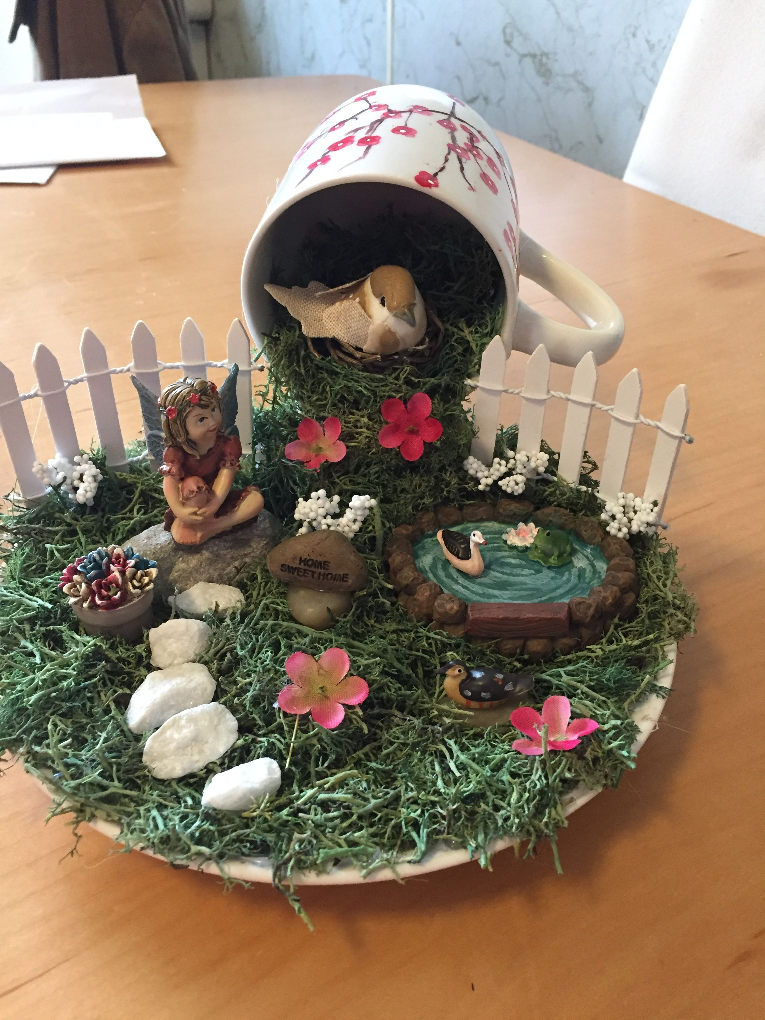 Floating Tea Cup Fairy Garden Time For Tea Floating
