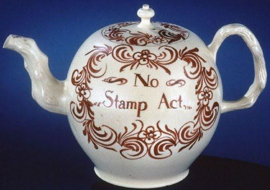 Teapot, made in England for the American market, calling for the repeal of the Stamp Act in 1765