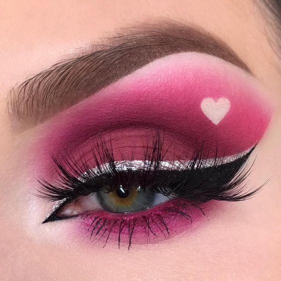 valentines makeup look