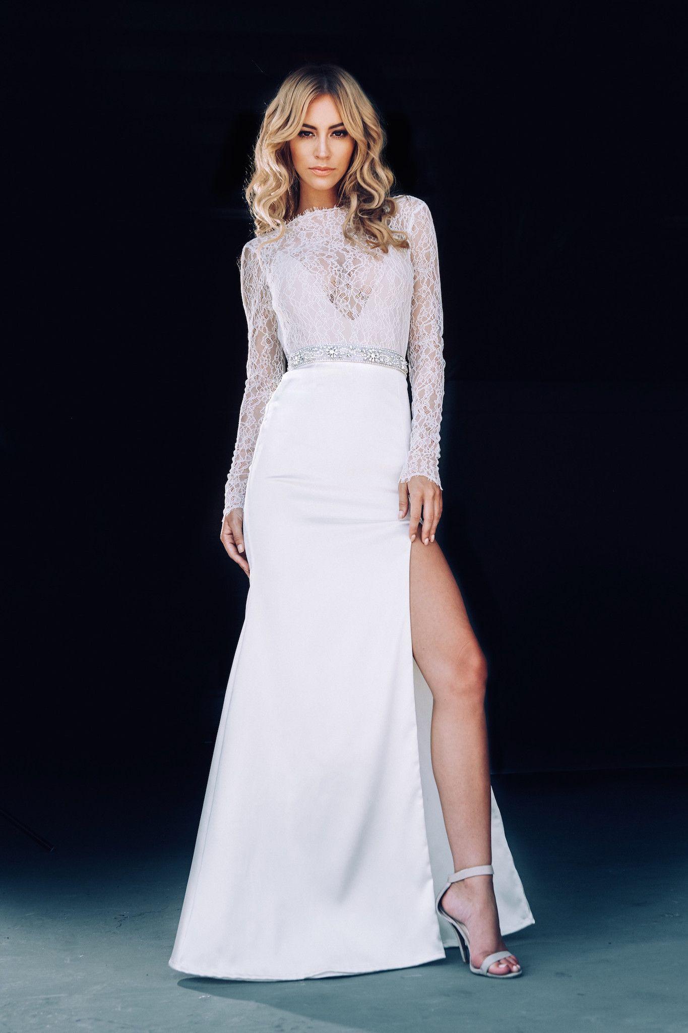 long sleeves wedding dress - Lurelly Bridal Wedding Dress | fabmood.com