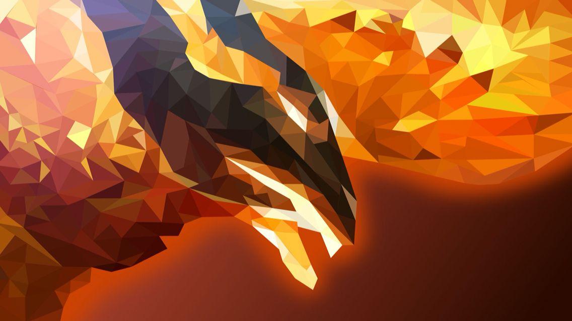 Polygon...Phenix's? Polygon art, Art, Wallpaper