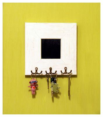 Mirror Key Holder | crafts | Pinterest | Diy mirror, Key and Blog