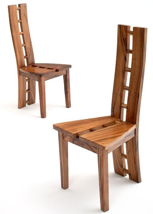 Contemporary Chair, Modern Side Chair, Modern Wooden Dining Chair,  Sustainable Hard Woods |