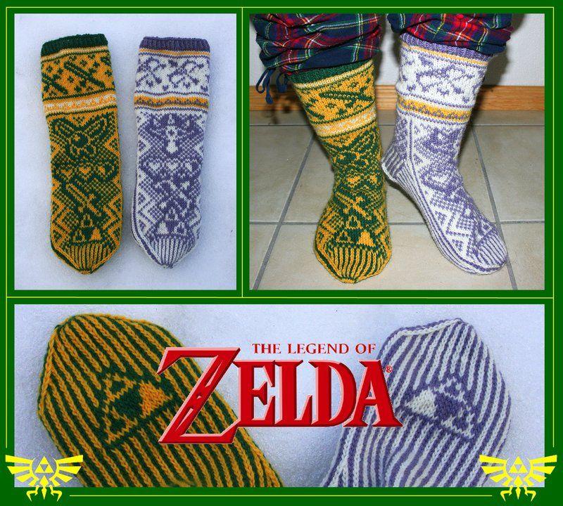 The Legend of Zelda fair-isle socks by KnitLizzy.deviantart.com on ...