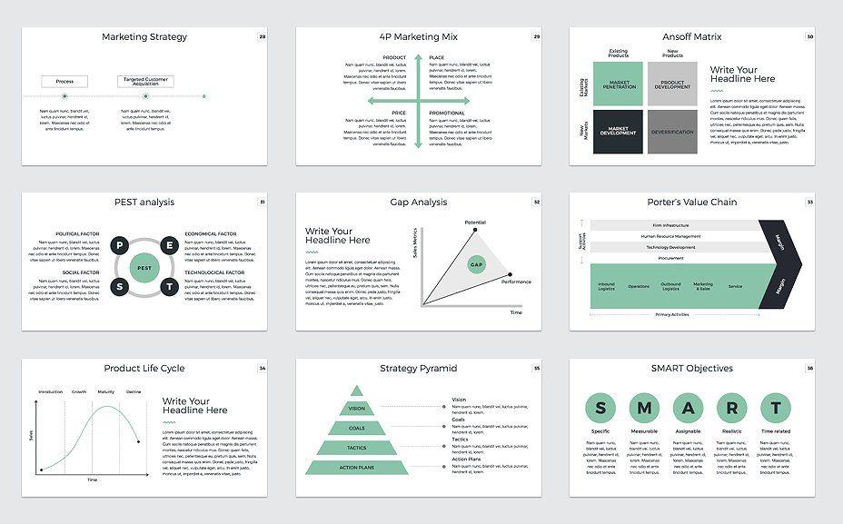 Marketing Plan Powerpoint Template Marketing Plan Marketing