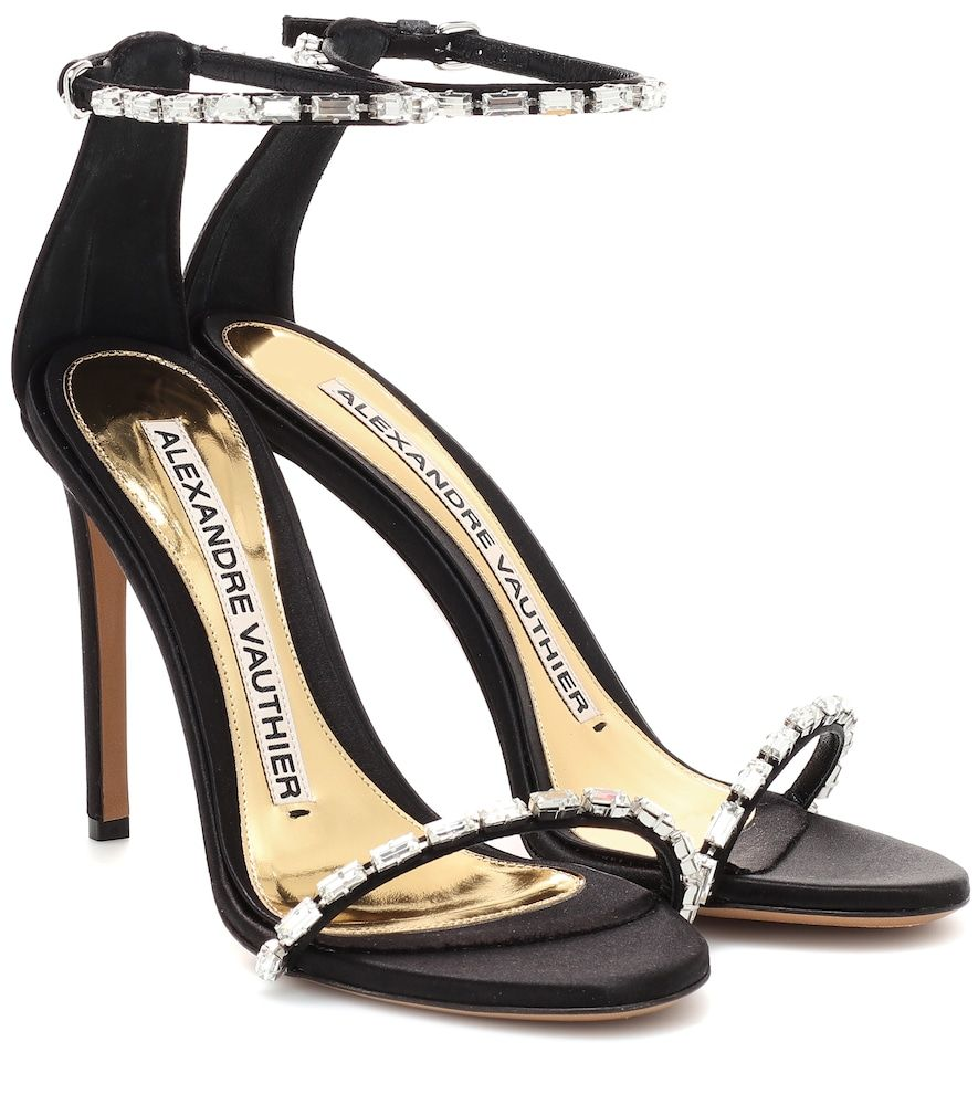 903d2dc8 Alexandre Vauthier - Carla embellished satin sandals - Alexandre Vauthier's  Carla sandals have been crafted in Italy from smooth black satin that's ...