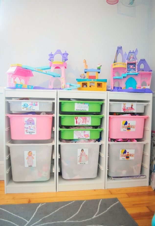 Toy Storage Ideas For Small Spaces Part - 46: DIY Toy Box Labels + Small Space Toy Storage Solution