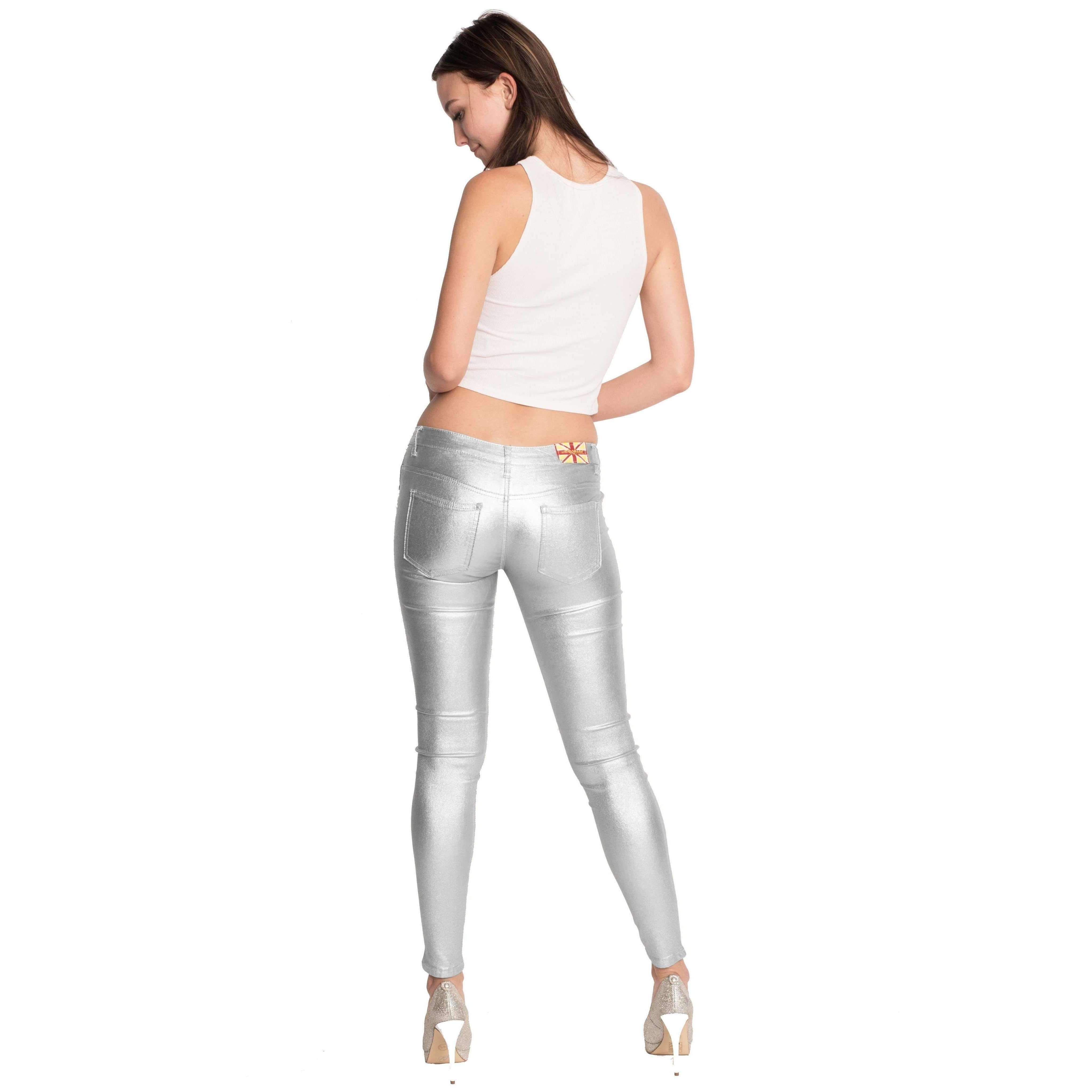 dde9ea82867 Womens Casual Gold Silver Skinny Jeans (DMJ-1A3700) | Products ...