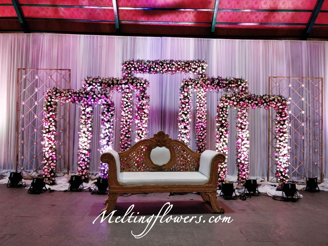 Reception Stage Decoration At Balan Farm Convention Centre Bangalo