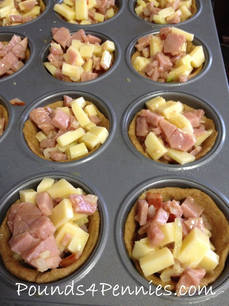 Easy Ham And Cheese Muffin Tin Meal Leftover Ham Recipes