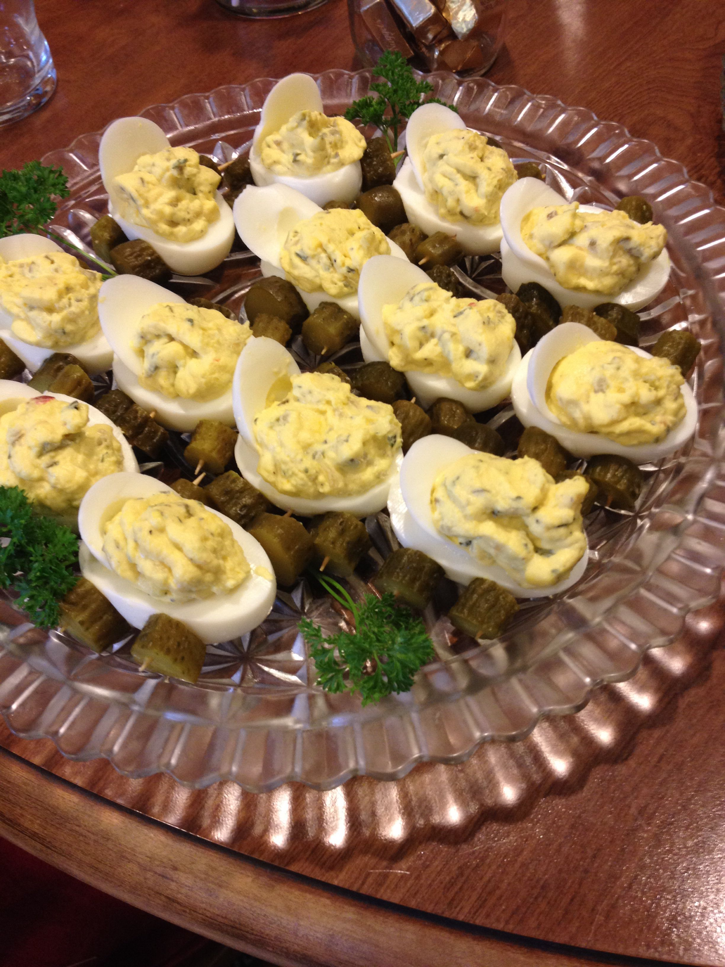 Baby Carriage Deviled Eggs, By My Lovely Mom