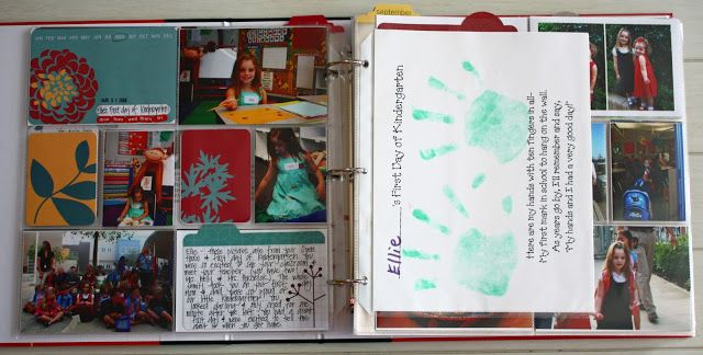 Keep photos of kids' projects, artwork, certificates, and papers in scrapbooks or pocket-binders. Remember to use acid-free paper and pockets!