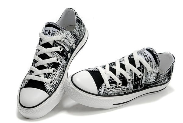 Converse All Star Overseas Graffiti Black and White Low Top