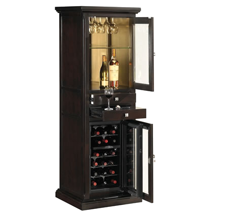 Slim Cabinet For Wine Cooler Tresanti Expresso Color Meridian Dual Zone Wood