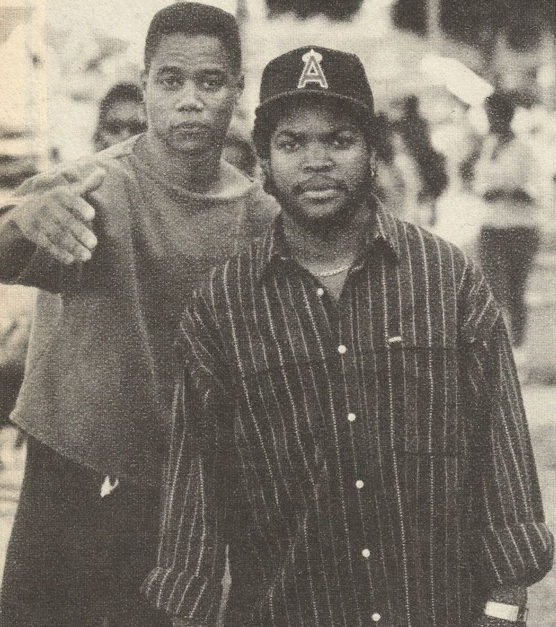 Cuba gooding jr ice cube in boyz n the hood gangster