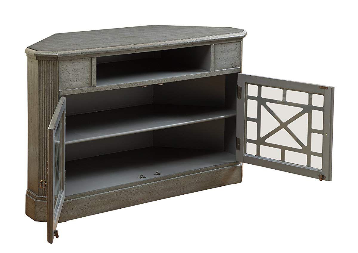 2 Door Corner Cabinet Texture Grey Corner Media Cabinet Media Cabinet Cabinet