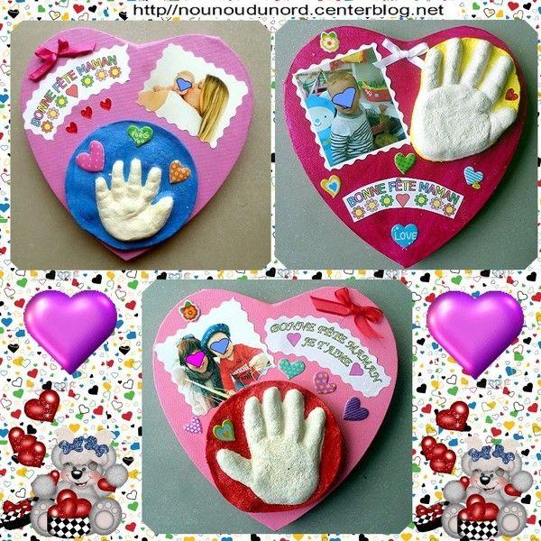 empreintes de main réalisées en 3d pour la fête des mères