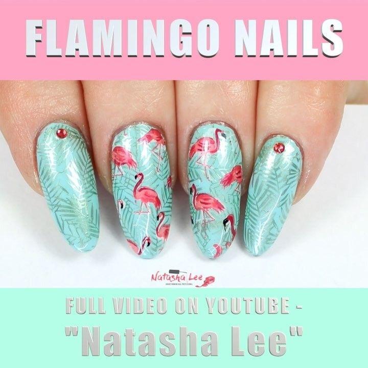 Flamingo Long Round Nails Nail Summer Nails Nailart Video