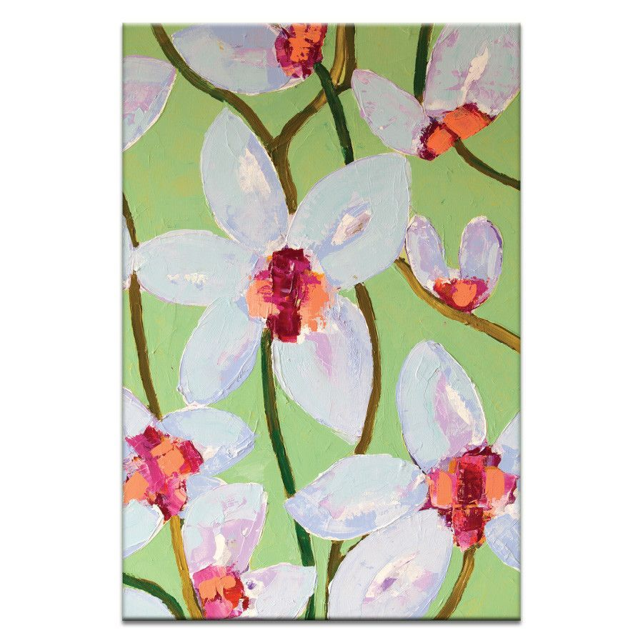 Orchids 3 by Anna Blatman Painting Print on Wrapped Canvas