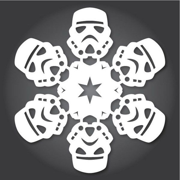 Diy Star Wars Snowflakes Pinterest Star Wars Snowflakes Star