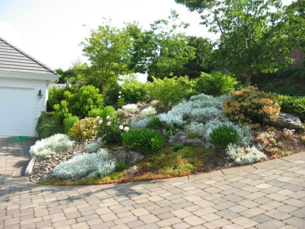 wie ein insel aussehen - steine und grüne pflanzen - 53 - moderne steingarten bilder